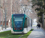 Tramway on street of city. Ordinary tramway on street of city Royalty Free Stock Image