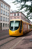 Tramway in the street of Mulhouse Royalty Free Stock Image