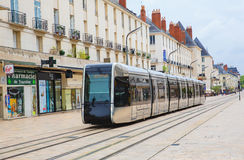 Tramway in Tours,  France. A modern tramway in Downtown Tours, France Royalty Free Stock Images