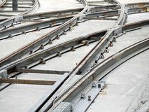 Tramway track construction Royalty Free Stock Image