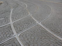 Tramway Tracks. Cityscapes royalty free stock photography