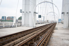 Tramway tracks Royalty Free Stock Photo