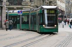 Tramway vert photographie stock libre de droits