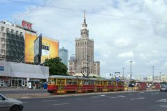 Tramway in Warsaw, Poland Royalty Free Stock Images