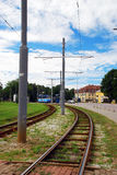 Tramway way in Tallin Stock Image