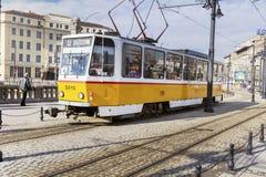 tramways au centre de Sofia, Bulgarie Photographie stock libre de droits