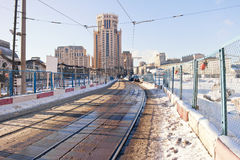 Tramways. Moscow, municipal landscape Stock Photo
