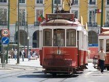 Tramways traditionnels Lisbonne du centre Image libre de droits