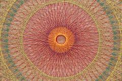 Trança com cordas coloridas Imagens de Stock Royalty Free