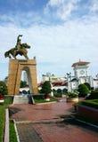 Tran阮汉雕象在本Thanh市场上 库存图片