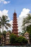 Tran Cuoc-pagode, Hanoi, Vietnam Stock Afbeeldingen