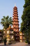tran för hanoi pagodaquoc Arkivbilder