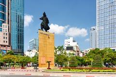 Tran Hung Dao staty i den Ho Chi Minh staden, Vietnam arkivbild