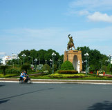 Tran Nguyen Han statue. HO CHI MINH , VIETNAM- AUGUST 7 : Tran Nguyen Han statue locate at Quach Thi Trang traffic circle, the ancient statue existed 1975 at stock image