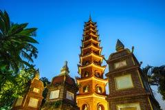 Tran Quoc den äldsta templet fotografering för bildbyråer