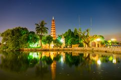 Tran Quoc Pagoda arkivbild