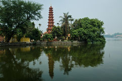 Tran Quoc Pagoda. Is the oldest pagoda in Viet Nam Stock Photo