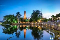 Tran Quoc Pagoda Arkivbilder