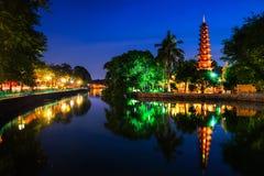 Tran Quoc Pagoda de oudste Boeddhistische tempel in Hanoi, Vietnam Royalty-vrije Stock Afbeeldingen