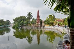 Tran Quoc Pagoda in Hanoi Stock Photography