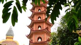 The Tran Quoc Pagoda in Hanoi Vietnam. Tran Quoc Pagoda in Hanoi Vietnam stock video