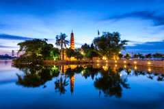 Tran Quoc Pagoda. Hanoi, Vietnam stock photo