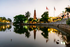 Tran Quoc pagoda stock photography