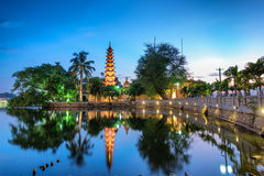 Tran Quoc Pagoda. The Trấn Quốc Pagoda in Hanoi is the oldest pagoda in the city, originally constructed in the sixth century during the reign of stock images