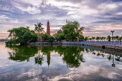 Tran Quoc Pagoda. The Trấn Quốc Pagoda in Hanoi is the oldest pagoda in the city, originally constructed in the sixth century during the reign of royalty free stock photos