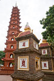 Tran Quoc Pagode in Hanoi, lizenzfreies stockfoto