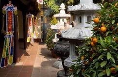 Tran Quoc Pagode in Hanoi lizenzfreies stockbild