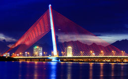 Tran Thi Ly Bridge Danang Immagini Stock
