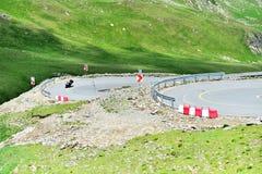 Tranalpina mountain road in Romania Royalty Free Stock Photo