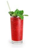 Tranbärfruktdrink med mintkaramellen fruktsaft Arkivbild