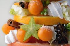 Tranche comestible d'arbre de Noël Images stock