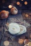 Tranche d'oignon Image stock