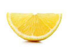 Tranche d'orange sur le fond blanc Image libre de droits