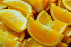 Tranche d'oranges photos stock