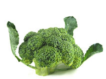 Tranche de brocoli sur le fond blanc Photo libre de droits