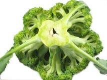 Tranche de brocoli sur le fond blanc Image libre de droits