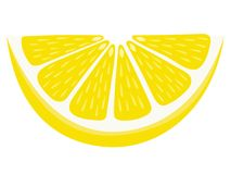 Tranche de cale de citron d'isolement sur le fond blanc Image stock