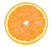 Tranche de fruit orange d'isolement sur le backdround blanc Photographie stock