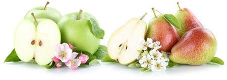 Tranche de fruits de poires de pommes d'Apple et de poire Photos libres de droits