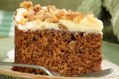 Tranche de gâteau à la carotte Photos libres de droits