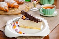 Tranche de gâteau Photographie stock
