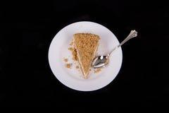 Tranche de gâteau au fromage Image libre de droits