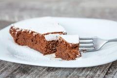 Tranche de gâteau de chocolat sucré Image libre de droits
