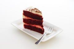 Tranche de gâteau de framboise Images libres de droits