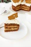 Tranche de gâteau de pain d'épice Photographie stock libre de droits