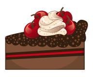 Tranche de gâteau de chocolat Photographie stock